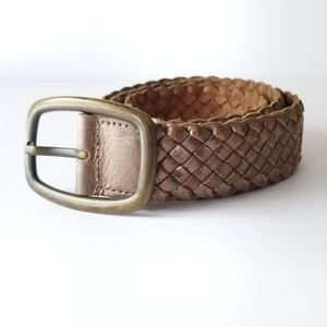 Fossil | Distressed Metallic Braided Leather Belt